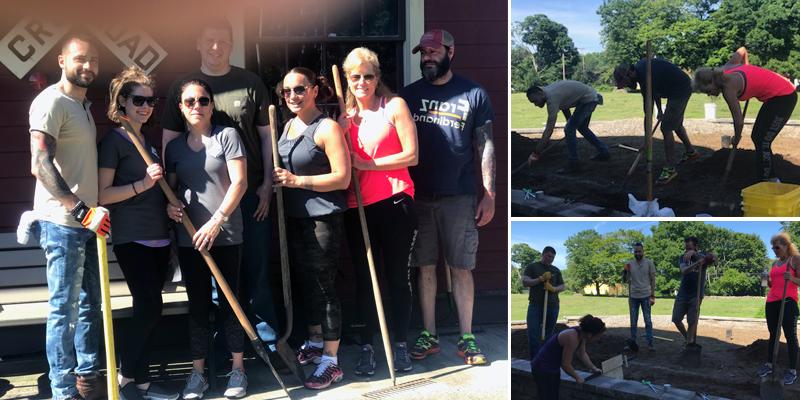 MSCU employees volunteering at Boothe Memorial Park