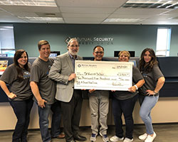 Community donation for St. Vincent DePaul fom MSCU