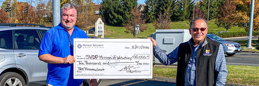 Mutual Security Credit Union Distributes $100K in COVID-19 Relief Grant Funding to Connecticut Nonprofits
