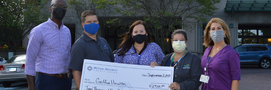 Mutual Security Credit Union Donates $2,500 to Griffin Health, Safe Kids